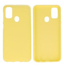 BackCover Hoesje Color Telefoonhoesje Samsung Galaxy M31 Geel