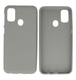 BackCover Hoesje Color Telefoonhoesje Samsung Galaxy M31 Grijs
