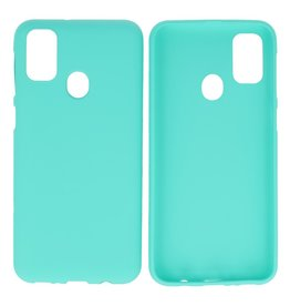 BackCover Hoesje Color Telefoonhoesje Samsung Galaxy M31 Turquoise