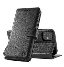 Echt Lederen Hoesje iPhone 12 mini - Zwart