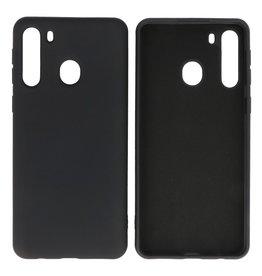 Samsung Galaxy A21 Hoesje Fashionn Backcover Telefoonhoesje Zwart