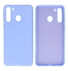 Fashion Color Backcover Hoesje Samsung Galaxy A21 Paars