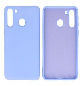 Samsung Galaxy A21 Hoesje Fashion Backcover Telefoonhoesje Paars