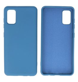 Fashion Color Backcover Hoesje Samsung Galaxy A41 Navy