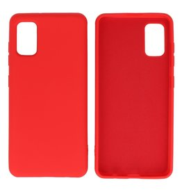 Fashion Color Backcover Hoesje Samsung Galaxy A41 Rood