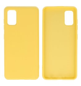 Fashion Color Backcover Hoesje Samsung Galaxy A41 Geel