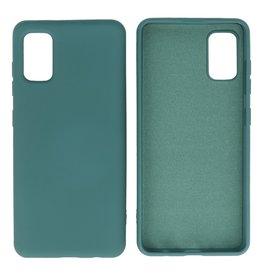 Samsung Galaxy A41 Hoesje Fashion Backcover Telefoonhoesje Donker Groen