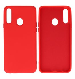 Fashion Color Backcover Hoesje Samsung Galaxy A20s Rood