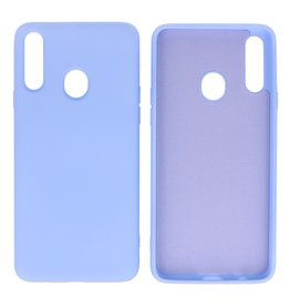 Fashion Color Backcover Hoesje Samsung Galaxy A20s Paars