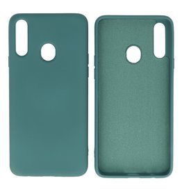 Fashion Color Backcover Hoesje Samsung Galaxy A20s Donker Groen