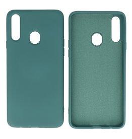 Samsung Galaxy A20s Hoesje Fashion Backcover Telefoonhoesje Donker Groen