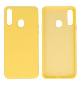 Fashion Color Backcover Hoesje Samsung Galaxy A20s Geel