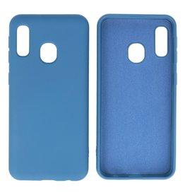 Fashion Color Backcover Hoesje Samsung Galaxy A20e Navy