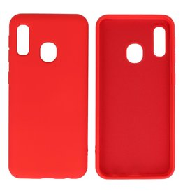 Fashion Color Backcover Hoesje Samsung Galaxy A20e Rood