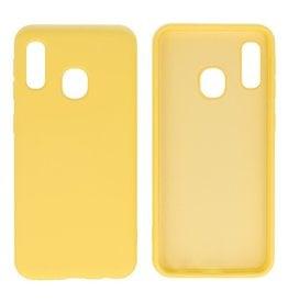 Fashion Color Backcover Hoesje Samsung Galaxy A20e Geel