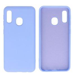 Samsung Galaxy A20e Hoesje Fashion Backcover Telefoonhoesje Paars