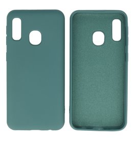 Fashion Color Backcover Hoesje Samsung Galaxy A20e Donker Groen