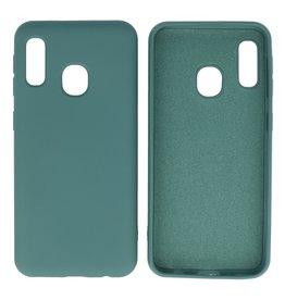 Samsung Galaxy A20e Hoesje Fashion Backcover Telefoonhoesje Donker Groen