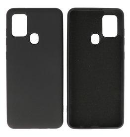 Samsung Galaxy A21s Hoesje Fashion Backcover Telefoonhoesje Zwart
