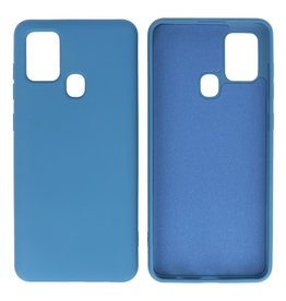 Fashion Color Backcover Hoesje Samsung Galaxy A21s Navy