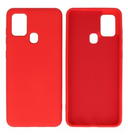 Fashion Color Backcover Hoesje Samsung Galaxy A21s Rood