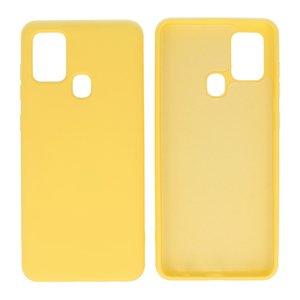 Fashion Color Backcover Hoesje voor Samsung Galaxy A21s Geel
