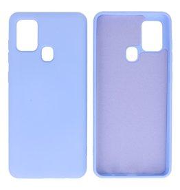 Samsung Galaxy A21s Hoesje Fashion Backcover Telefoonhoesje Paars