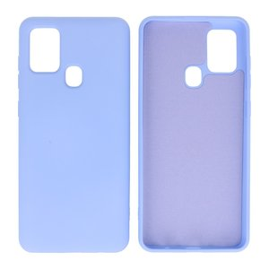 Fashion Color Backcover Hoesje voor Samsung Galaxy A21s Paars
