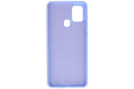 Fashion Telefoonhoesje - Backcover Hoesje - achterkant hoesje - Geschikt voor Samsung Galaxy A21s - Paars