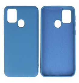 Fashion Color Backcover Hoesje Samsung Galaxy M31 Navy