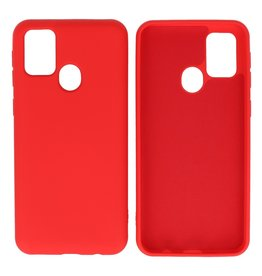 Fashion Color Backcover Hoesje Samsung Galaxy M31 Rood