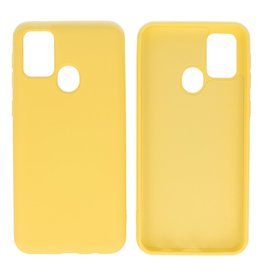 Fashion Color Backcover Hoesje Samsung Galaxy M31 Geel
