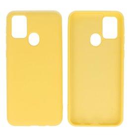 Samsung Galaxy M31 Hoesje Fashion Backcover Telefoonhoesje Geel