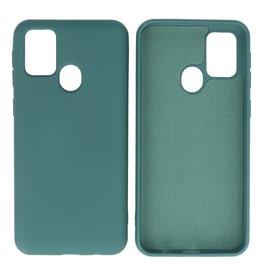 Samsung Galaxy M31 Hoesje Fashion Backcover Telefoonhoesje Donker Groen