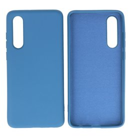 Fashion Color Backcover Hoesje Huawei P30 Navy