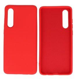 Fashion Color Backcover Hoesje Huawei P30 Rood
