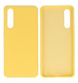 Huawei P30 Hoesje Fashion Backcover Telefoonhoesje Geel