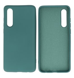 Fashion Color Backcover Hoesje Huawei P30 Donker Groen