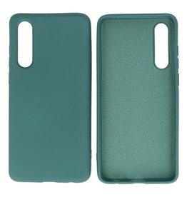 Huawei P30 Hoesje Fashion Backcover Telefoonhoesje Donker Groen