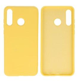 Huawei P30 Lite Hoesje Fashion Backcover Telefoonhoesje Geel