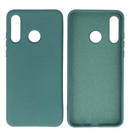 Huawei P30 Lite Hoesje Fashion Backcover Telefoonhoesje Donker Groen