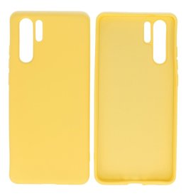 Fashion Color Backcover Hoesje Huawei P30 Pro Geel