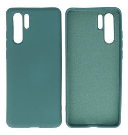Huawei P30 Pro Hoesje Fashion Backcover Telefoonhoesje Donker Groen