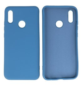 Fashion Color Backcover Hoesje Huawei P Smart 2019 Navy