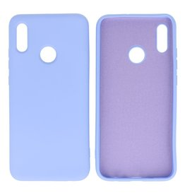 Fashion Color Backcover Hoesje Huawei P Smart 2019 Paars
