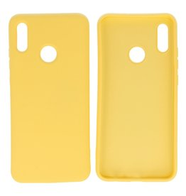 Fashion Color Backcover Hoesje Huawei P Smart 2019 Geel