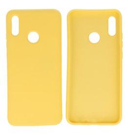Huawei P Smart 2019 Hoesje Fashion Backcover Telefoonhoesje Geel