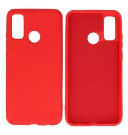 Huawei P Smart 2020 Hoesje Fashion Backcover Telefoonhoesje Rood