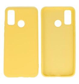 Huawei P Smart 2020 Hoesje Fashion Backcover Telefoonhoesje Geel