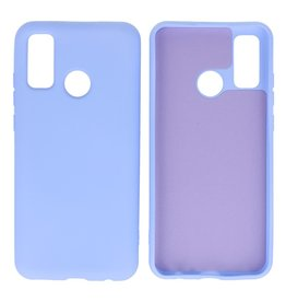 Fashion Color Backcover Hoesje Huawei P Smart 2020 Paars